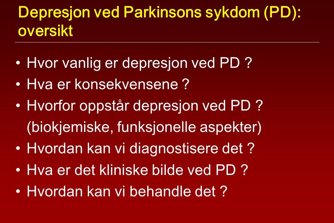 Depresjon ved Parkinsons sykdom (PD): oversikt Hvor vanlig er depresjon ved PD .