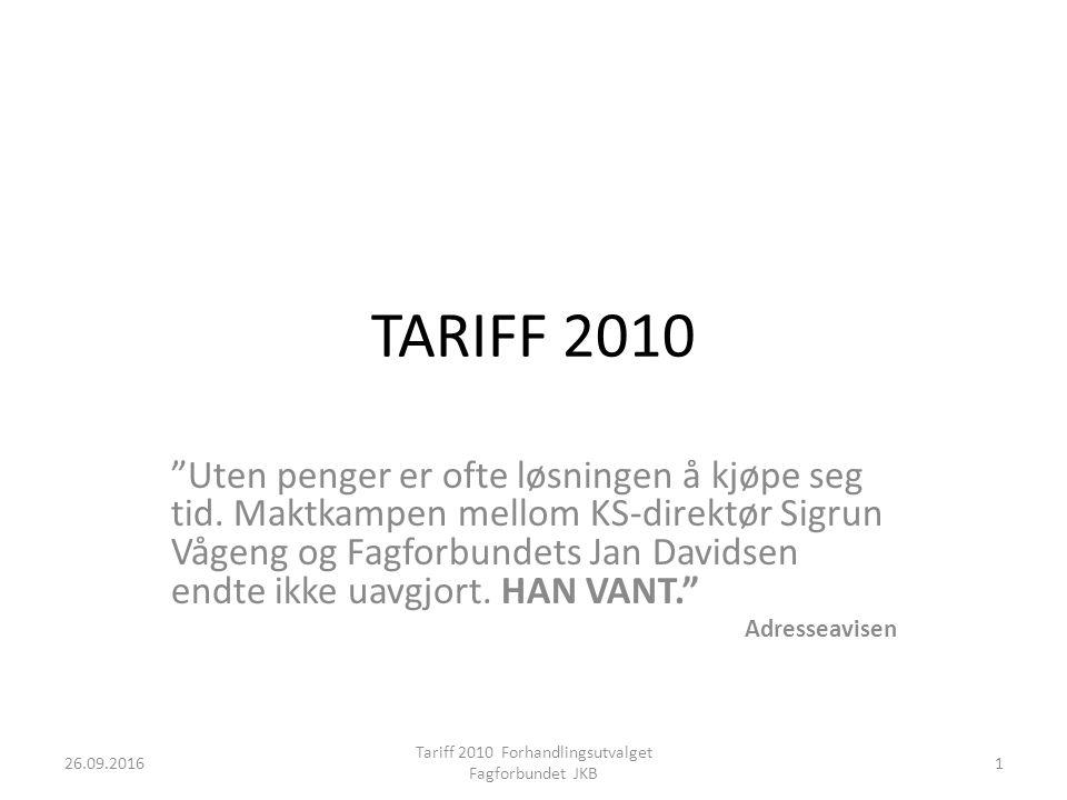 TARIFF 2010 Uten penger er ofte løsningen å kjøpe seg tid.