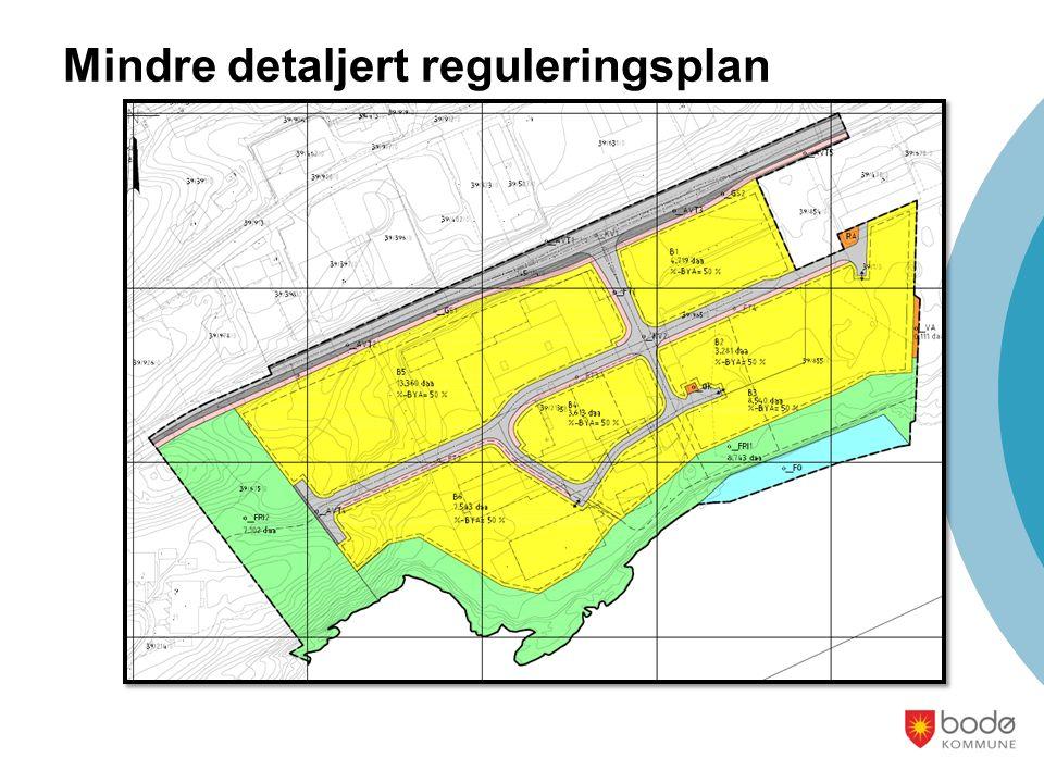 Mindre detaljert reguleringsplan