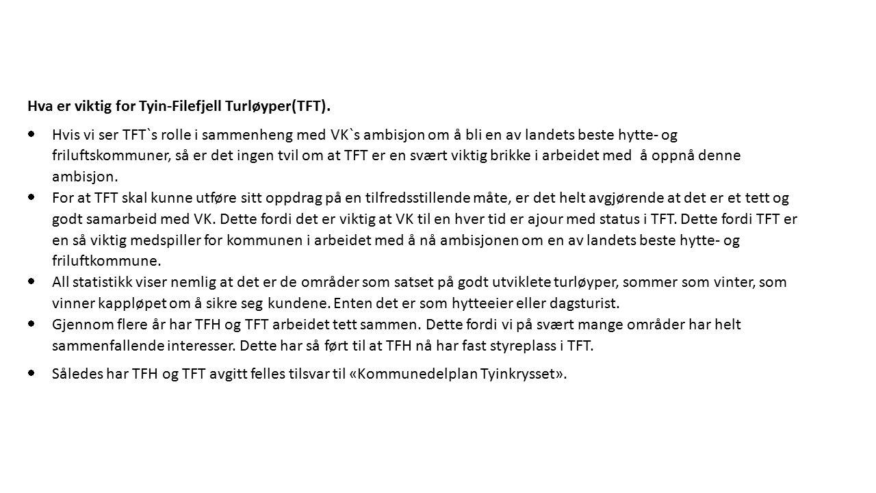  Andre viktige samarbeidspartnere er Tyin-Filefjell Utvikling AS og Fjellets Fellesgodefinansiering AS.