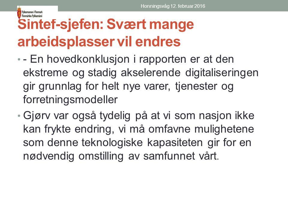 NHO Finnmark Næringslivet trenger gode strategier, effektiv saksbehandling og kompetente medspillere i kommunene.