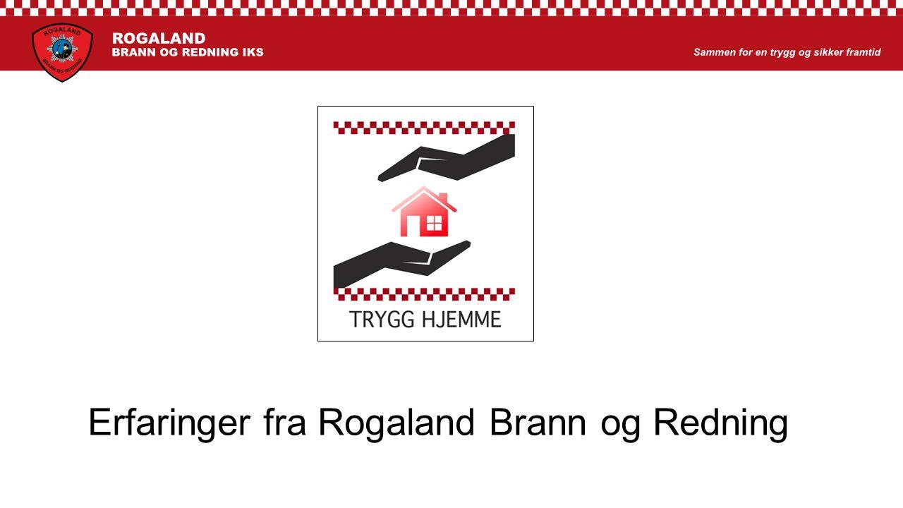 Erfaringer fra Rogaland Brann og Redning