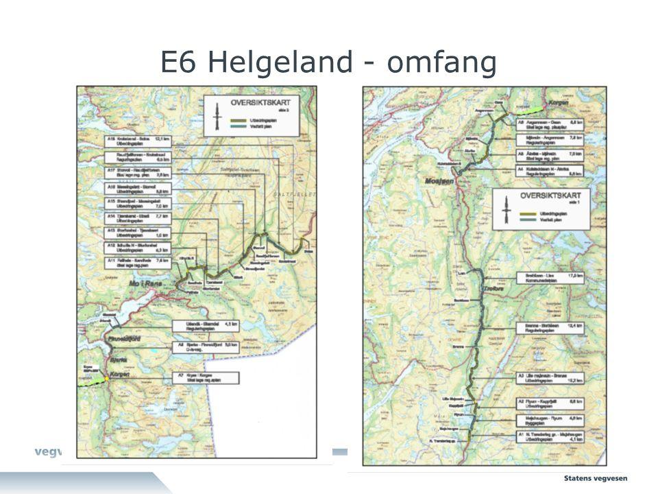 E6 Helgeland - omfang