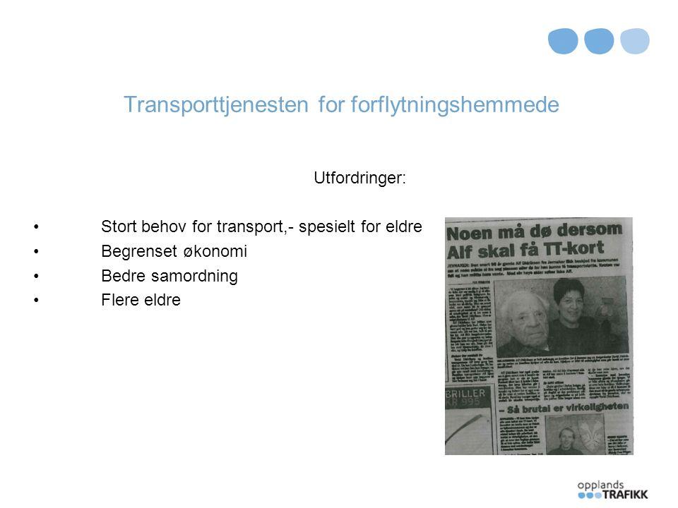 TT – ordningen i dag Fleksiskyssordningen i dag - erfaringer Gamle tanker - nye grep Struktur – rutiner; veien videre
