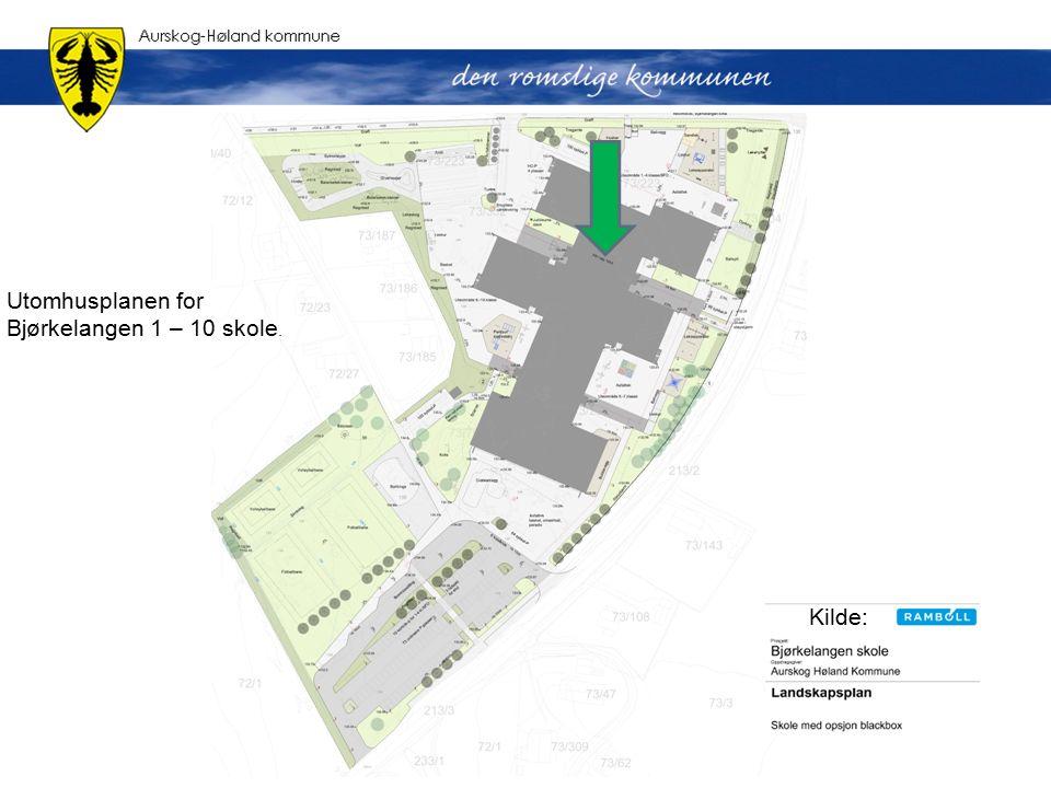 Utomhusplanen for Bjørkelangen 1 – 10 skole. Kilde: