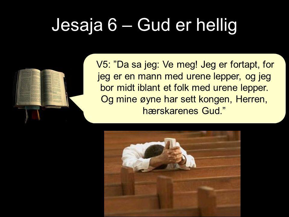 Jesaja 6 – Gud er hellig V5: Da sa jeg: Ve meg.