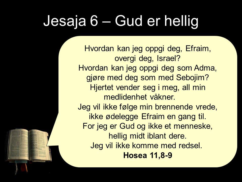 Jesaja 6 – Gud er hellig Hvordan kan jeg oppgi deg, Efraim, overgi deg, Israel.