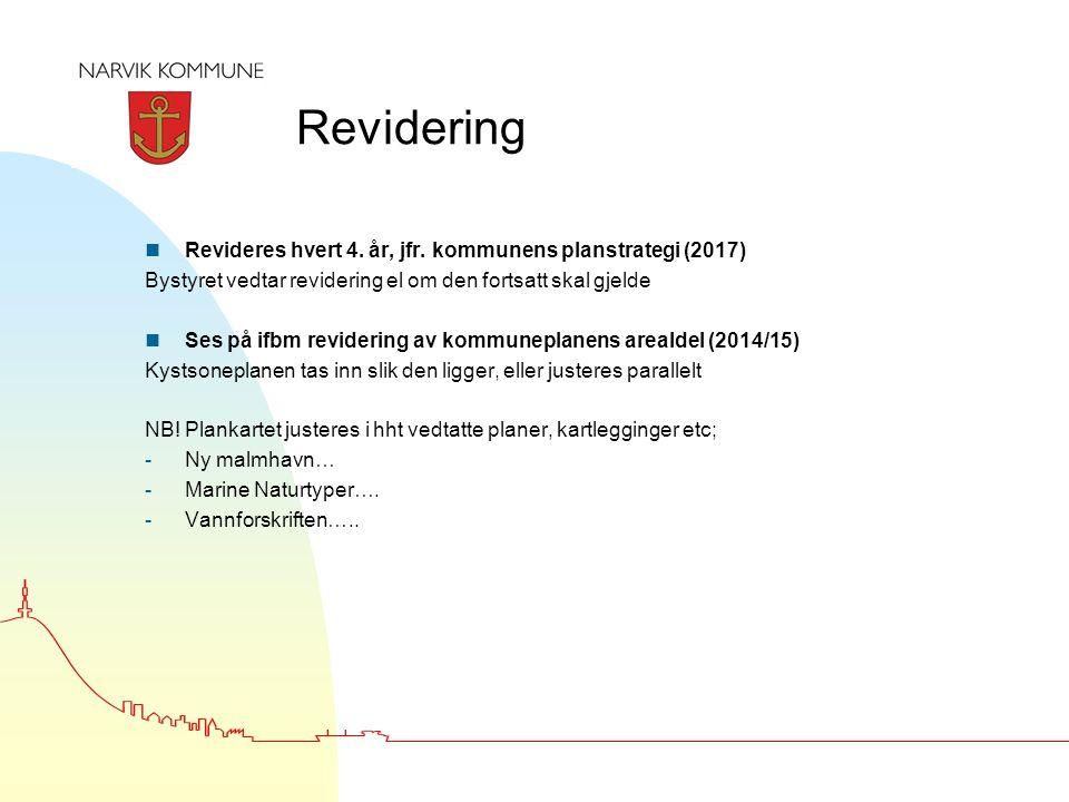 Revidering n Revideres hvert 4. år, jfr.