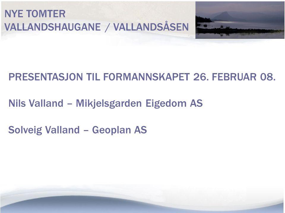 NÆROMRÅDA TIL PLANEN TOLO/VALLAND/SKIPADALEN/NES/BØRVE