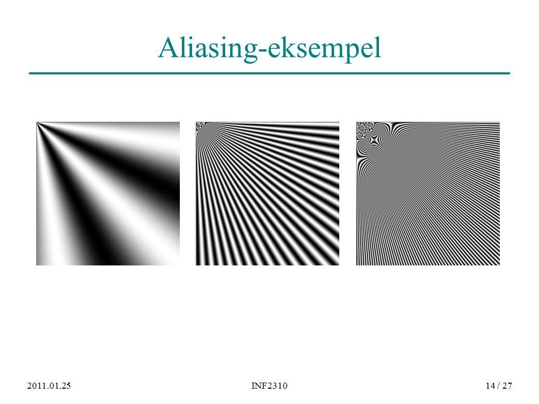 2011.01.25INF231014 / 27 Aliasing-eksempel