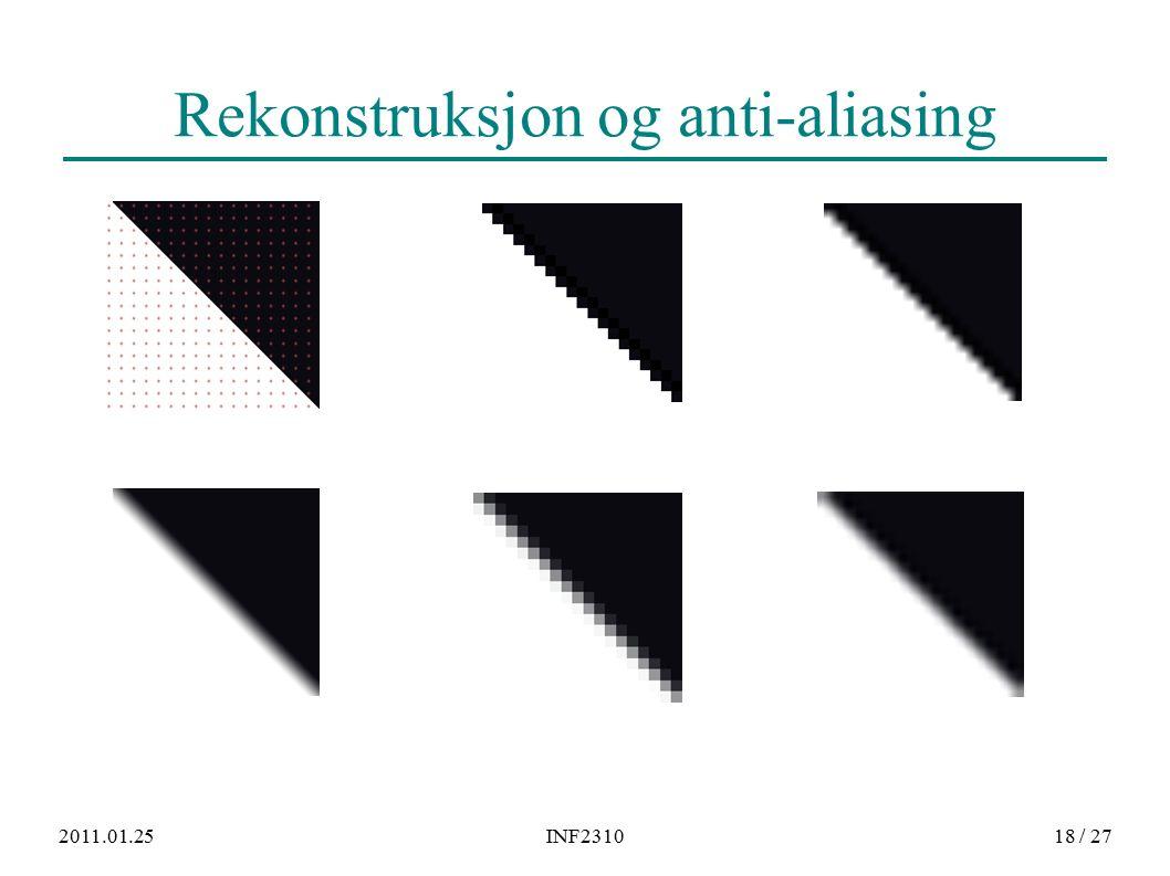 2011.01.25INF231018 / 27 Rekonstruksjon og anti-aliasing