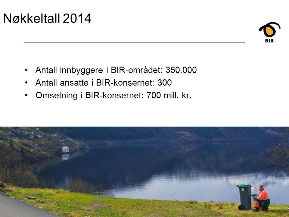 8 Nøkkeltall 2014 Antall innbyggere i BIR-området: 350.000 Antall ansatte i BIR-konsernet: 300 Omsetning i BIR-konsernet: 700 mill.