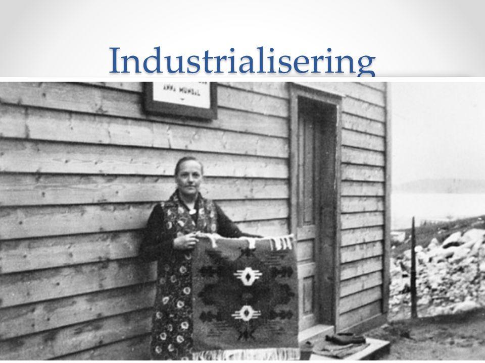 Industrialisering Fabrikkene o 1843 – fra England o Elver og fosser o Kristiania o Investeringer Arbeidskraft o Overskudd på landsbygda o 12% kvinner – halv lønn o 7 – 8 % barn Byene vokser o Fattigdom o Prostitusjon o Handelshusene kom - butikker Industri = Mekanisk produksjon på en stor skala