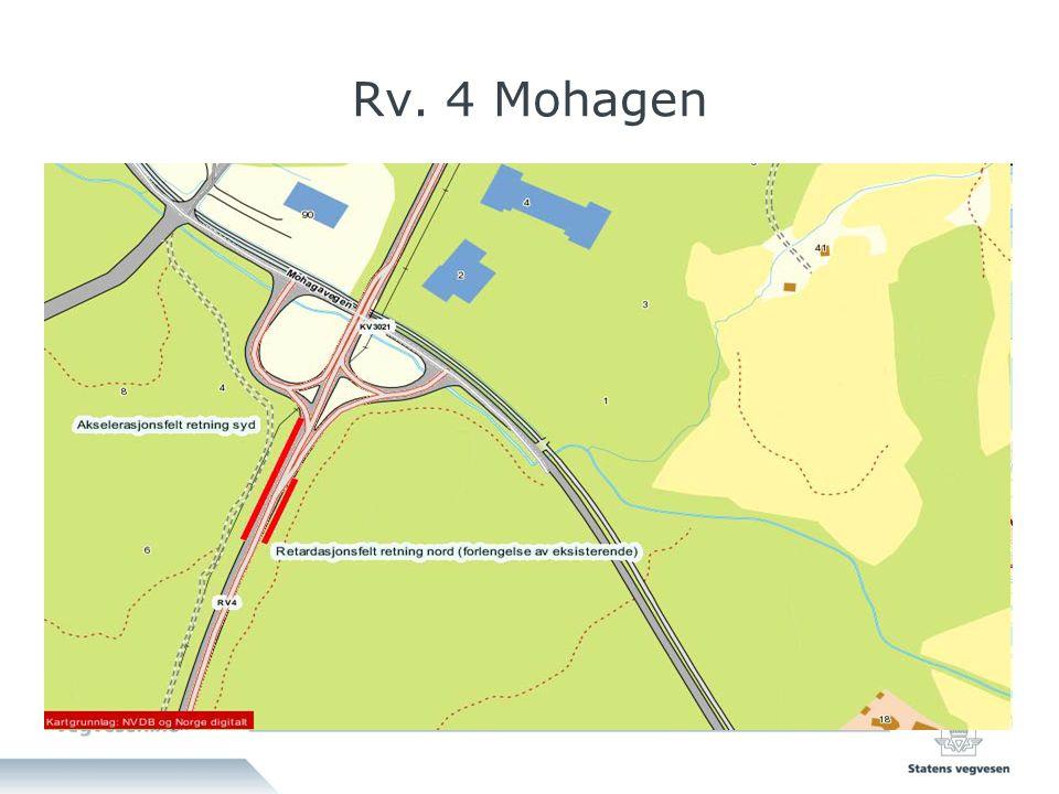 Mengder Mohagen Sikring av høyspentmast Fjell i linjen : 5250 m3 Dypspregning : 3770 m3 Fylling : 250 m3 Dekkeareal : 1800 m2