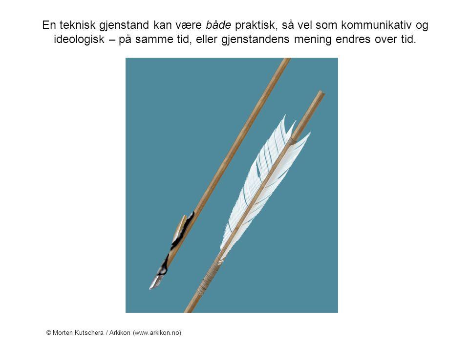 En teknisk gjenstand kan være både praktisk, så vel som kommunikativ og ideologisk – på samme tid, eller gjenstandens mening endres over tid. © Morten