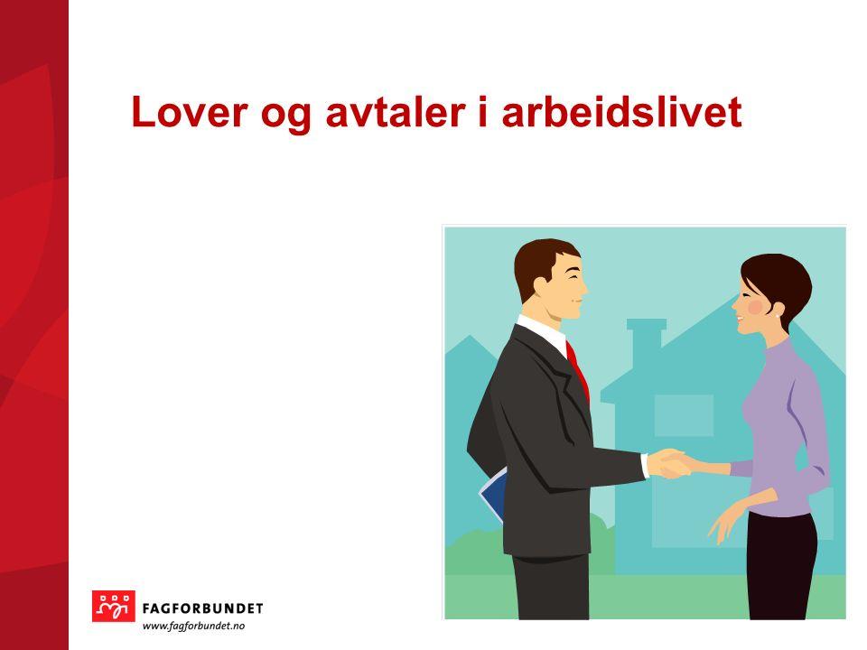 Lover og avtaler i arbeidslivet 1