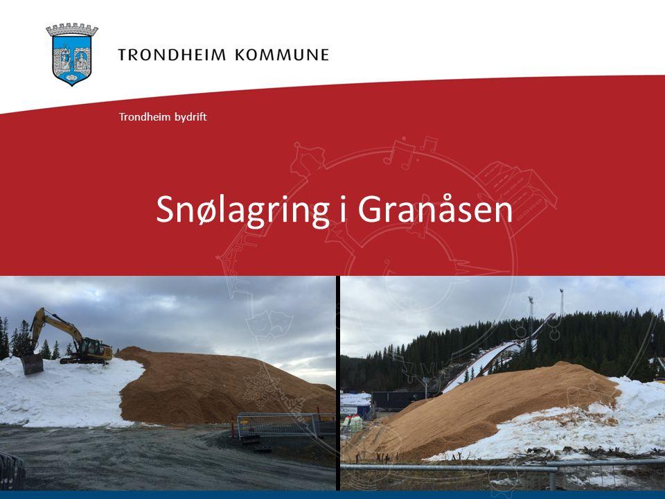 Snølagring i Granåsen Trondheim bydrift