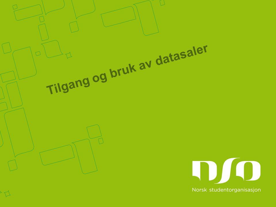 Tilgang og bruk av datasaler