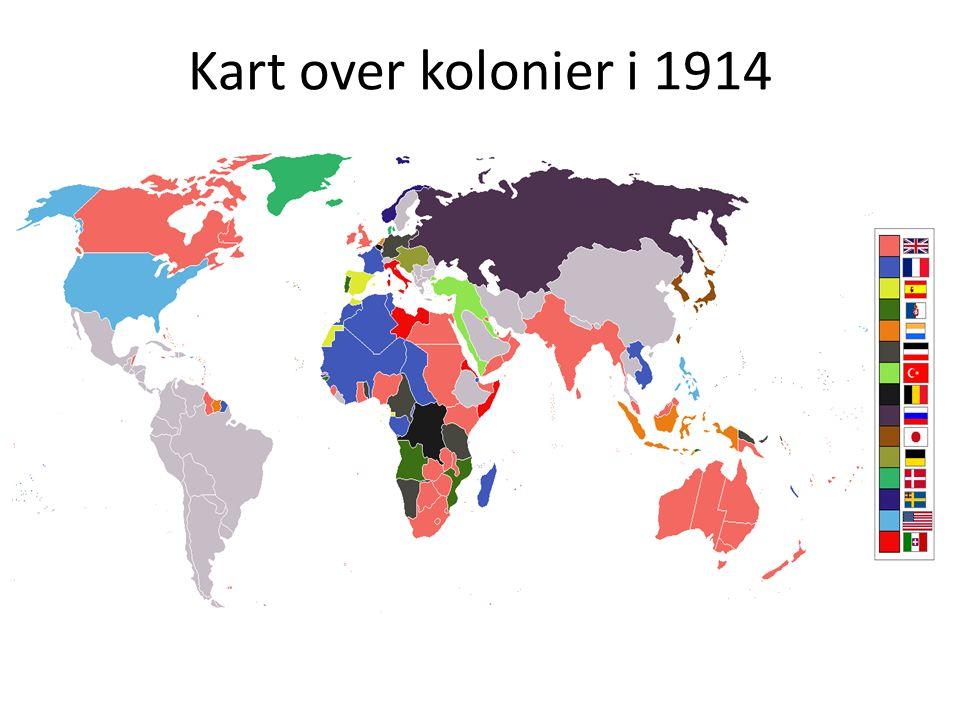 Kart over kolonier i 1914