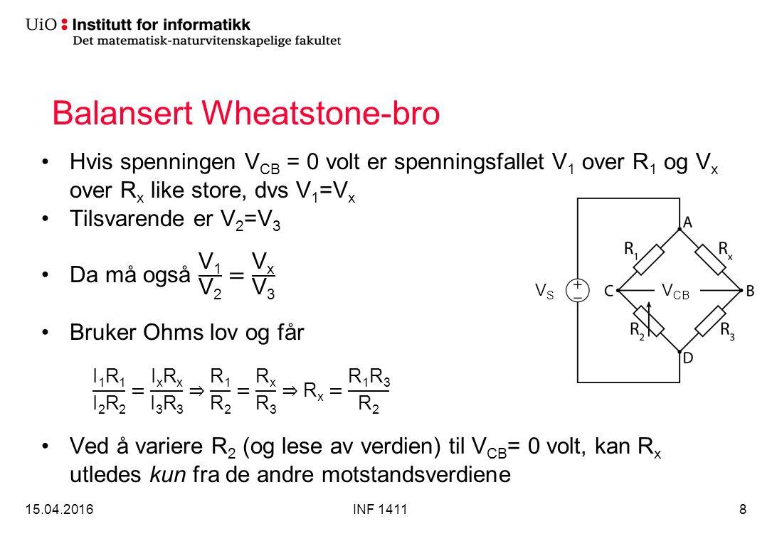 Balansert Wheatstone-bro 15.04.2016INF 14118 VSVS V CB