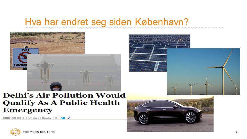 Hva har endret seg siden København? 5
