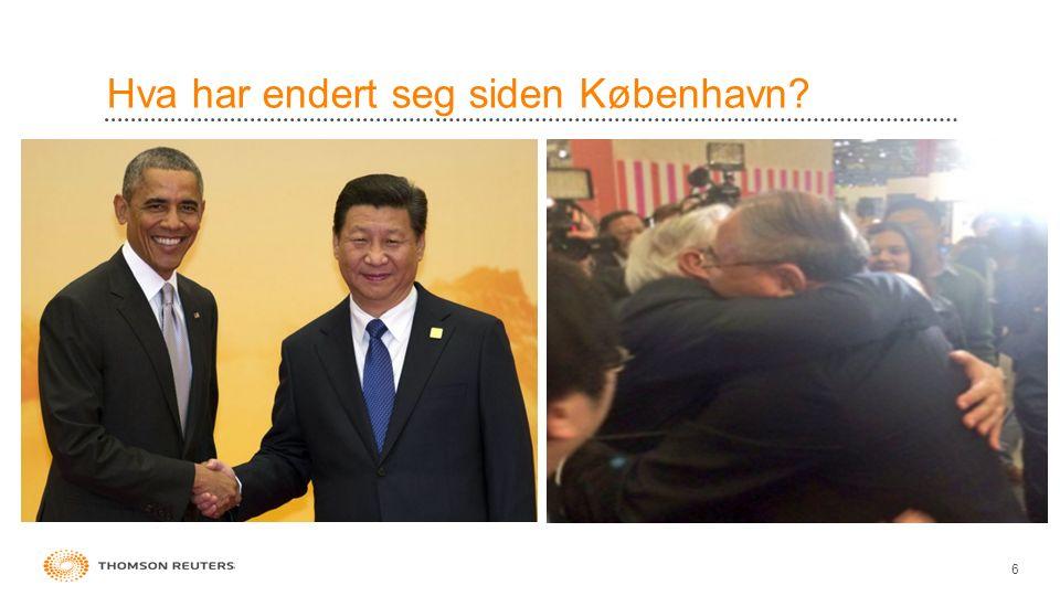 Hva har endert seg siden København? 6