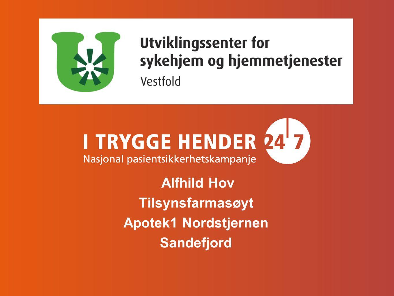 Alfhild Hov Tilsynsfarmasøyt Apotek1 Nordstjernen Sandefjord