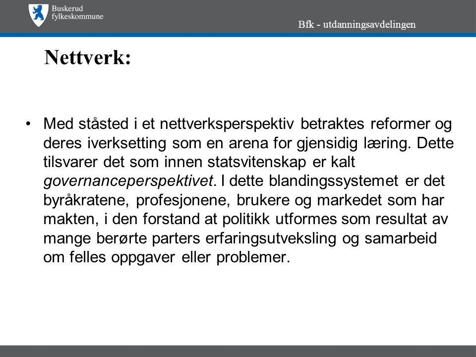 Styringsreform, forts..