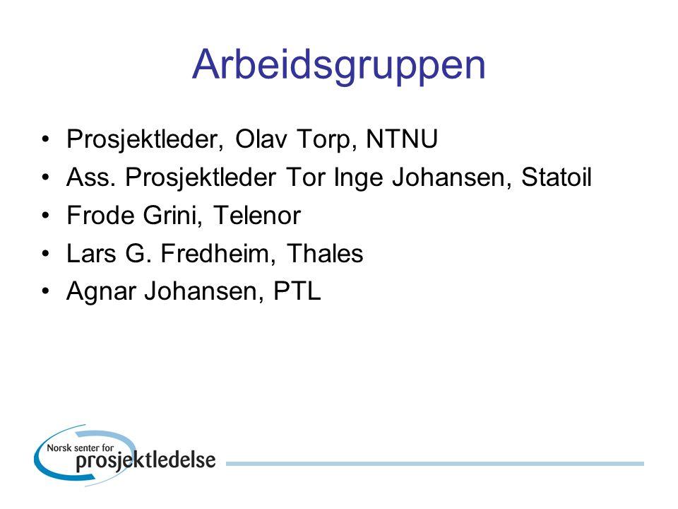 Arbeidsgruppen Prosjektleder, Olav Torp, NTNU Ass.
