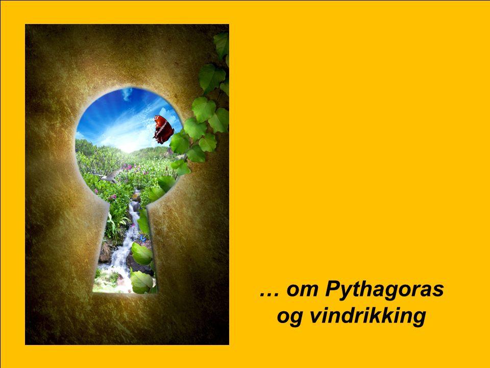 25 … om Pythagoras og vindrikking