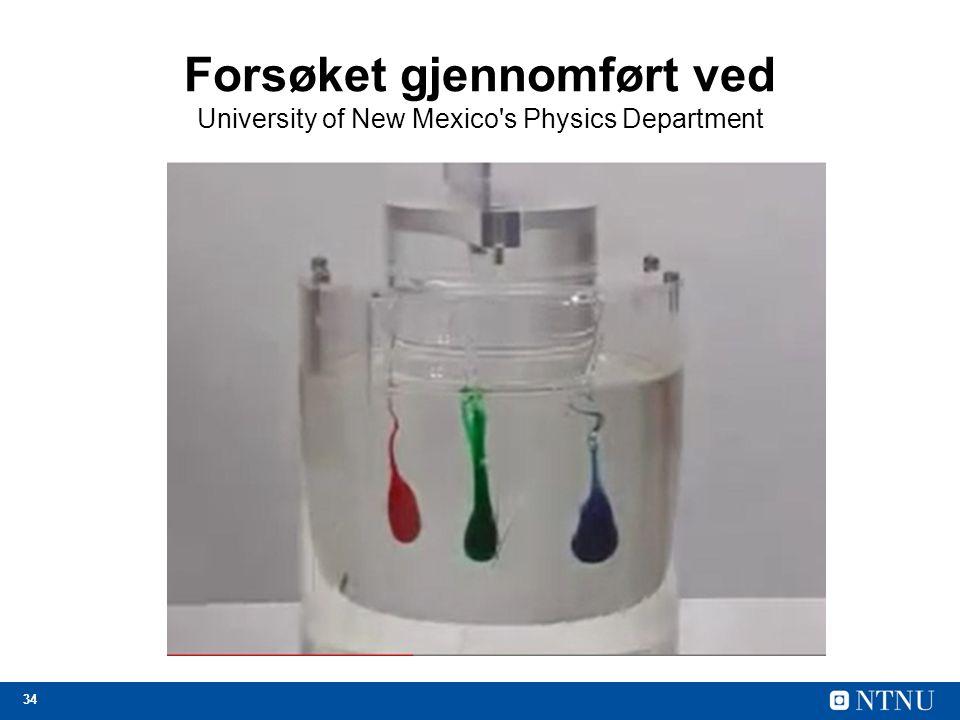 34 Forsøket gjennomført ved University of New Mexico's Physics Department