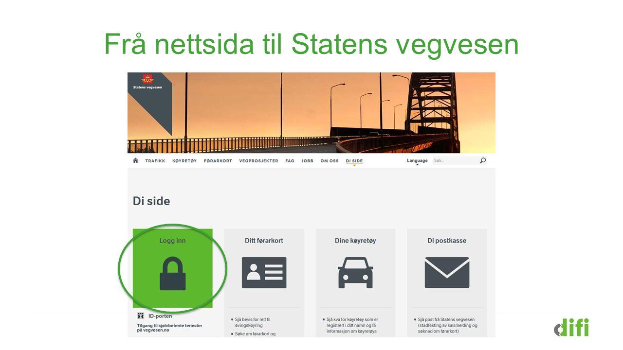 Frå nettsida til Statens vegvesen