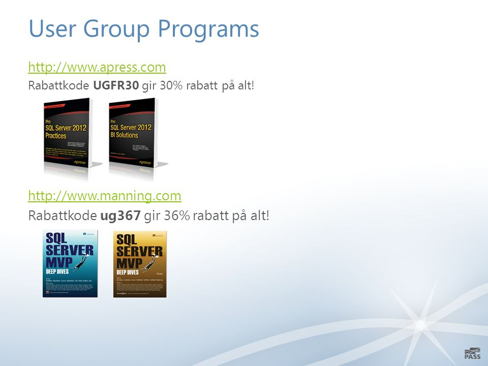 User Group Programs   Rabattkode UGFR30 gir 30% rabatt på alt.