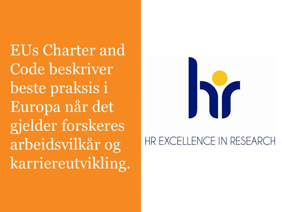 EUs Charter and Code beskriver beste praksis i Europa når det gjelder forskeres arbeidsvilkår og karriereutvikling.