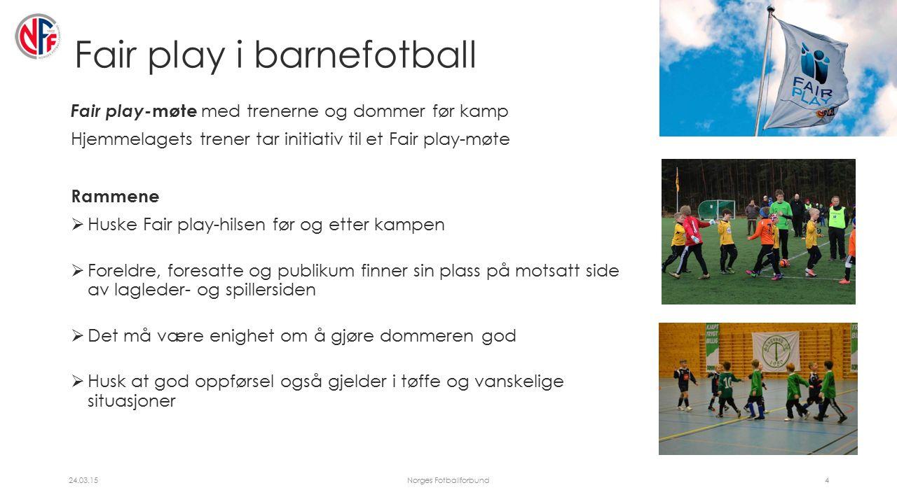 Spilleregel 5 – Dommeren Dommerens myndighet Dommeren skal ha kjennskap til spillereglene i Barnefotball.