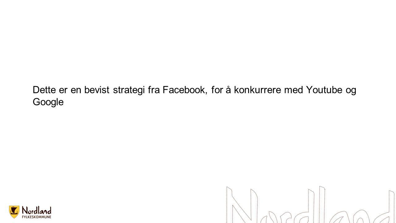 Dette er en bevist strategi fra Facebook, for å konkurrere med Youtube og Google