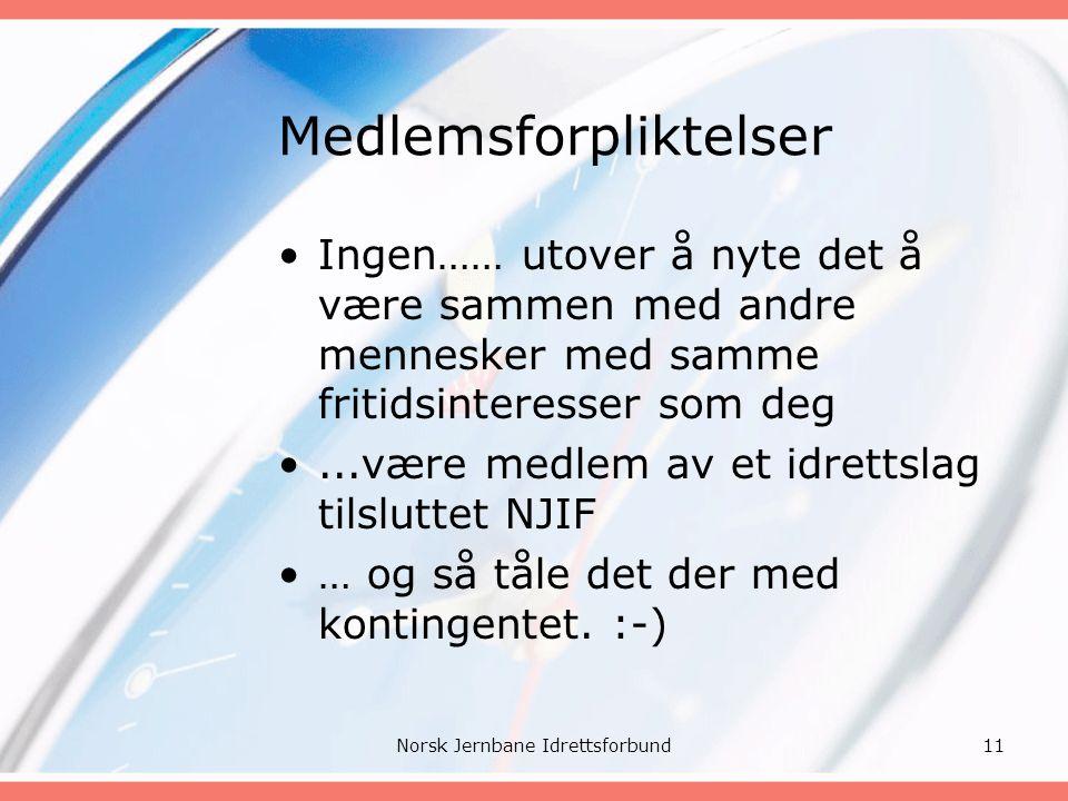 For ytterligere informasjon Se www.njif.orgwww.njif.org 12Norsk Jernbane Idrettsforbund