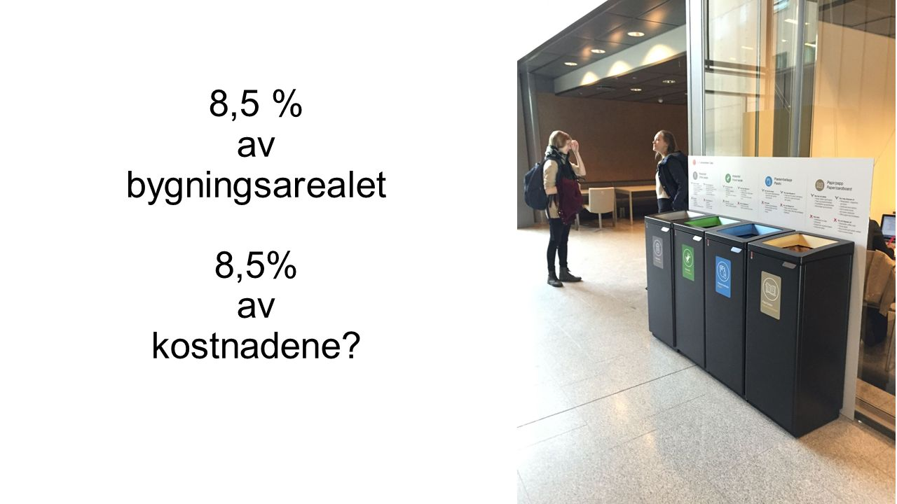 8,5 % av bygningsarealet 8,5% av kostnadene?