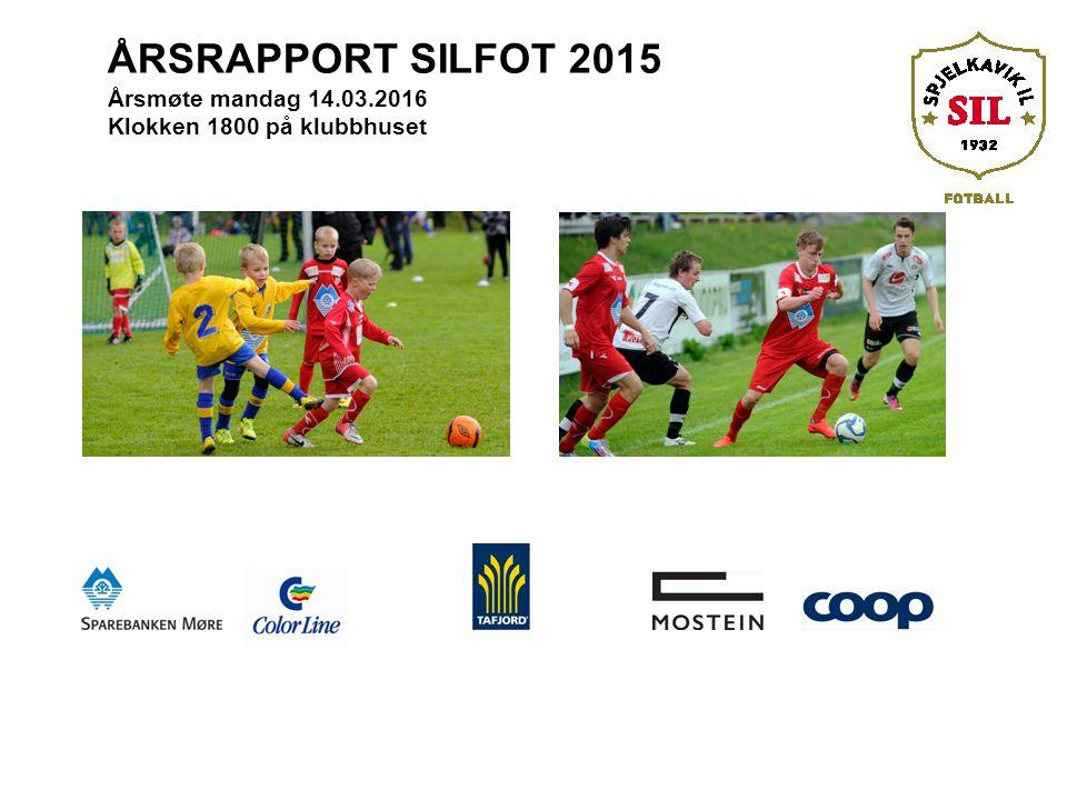 ÅRSRAPPORT SILFOT 2015 Årsmøte mandag 14.03.2016 Klokken 1800 på klubbhuset