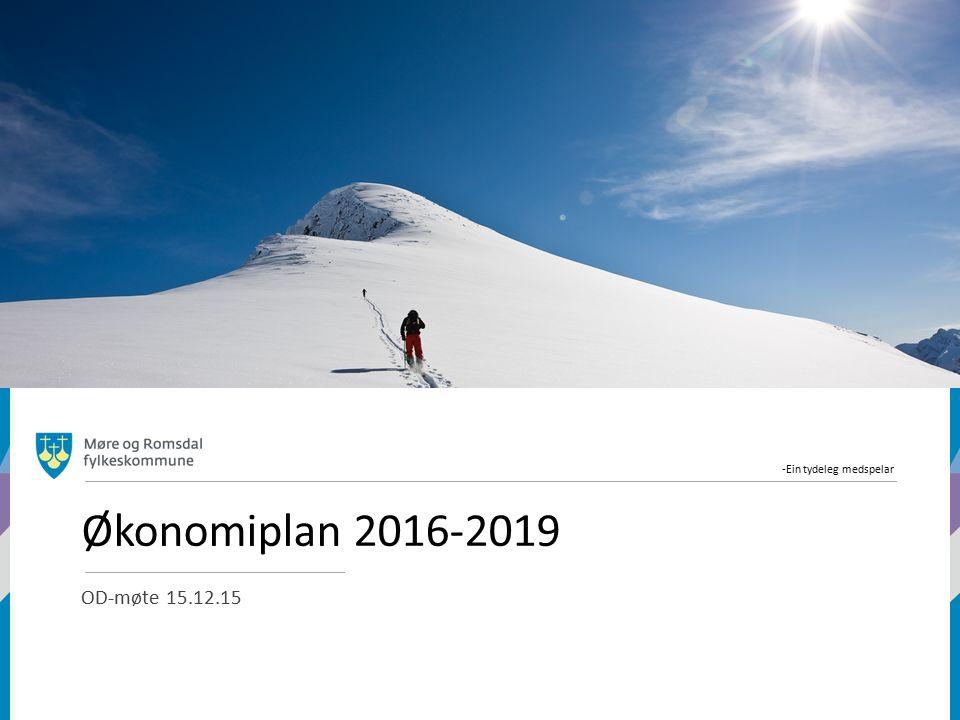 -Ein tydeleg medspelar Økonomiplan 2016-2019 OD-møte 15.12.15
