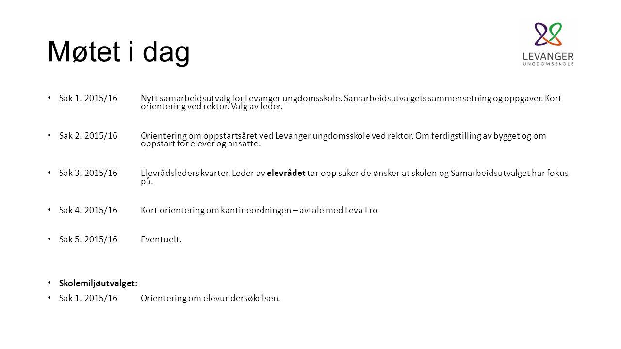 Sak 1.Nytt samarbeidsutvalg for Levanger ungdomsskole.