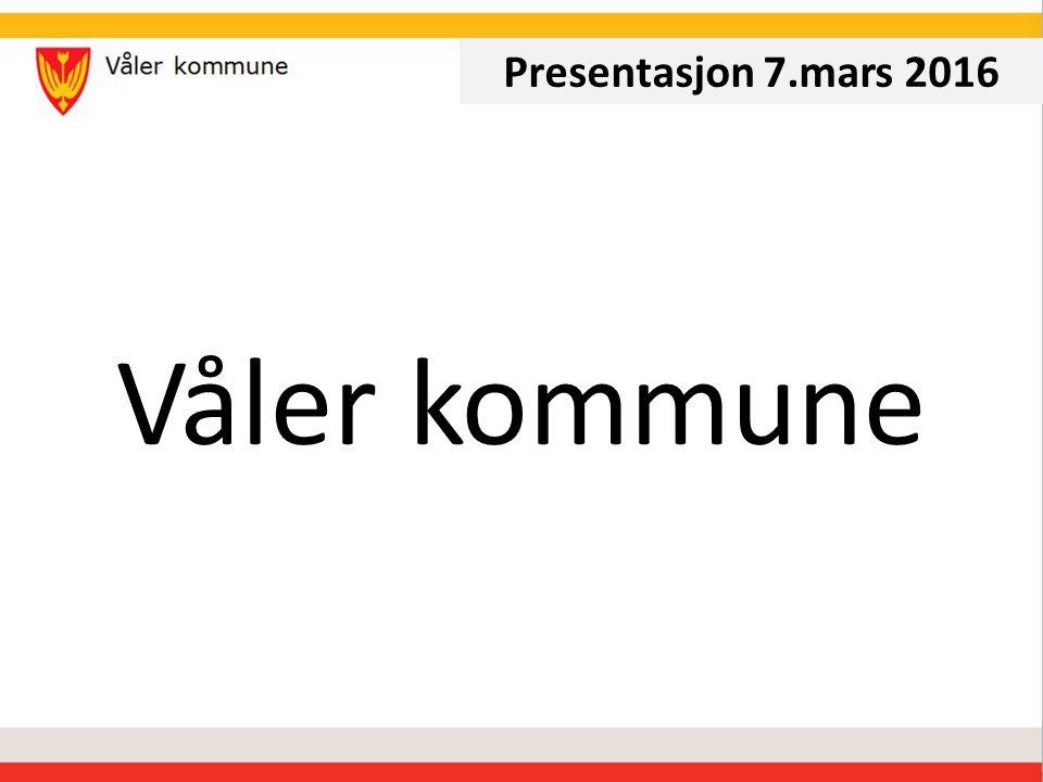 Våler kommune Presentasjon 7.mars 2016
