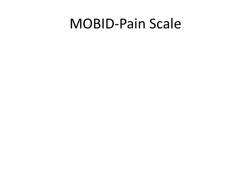 MOBID-Pain Scale