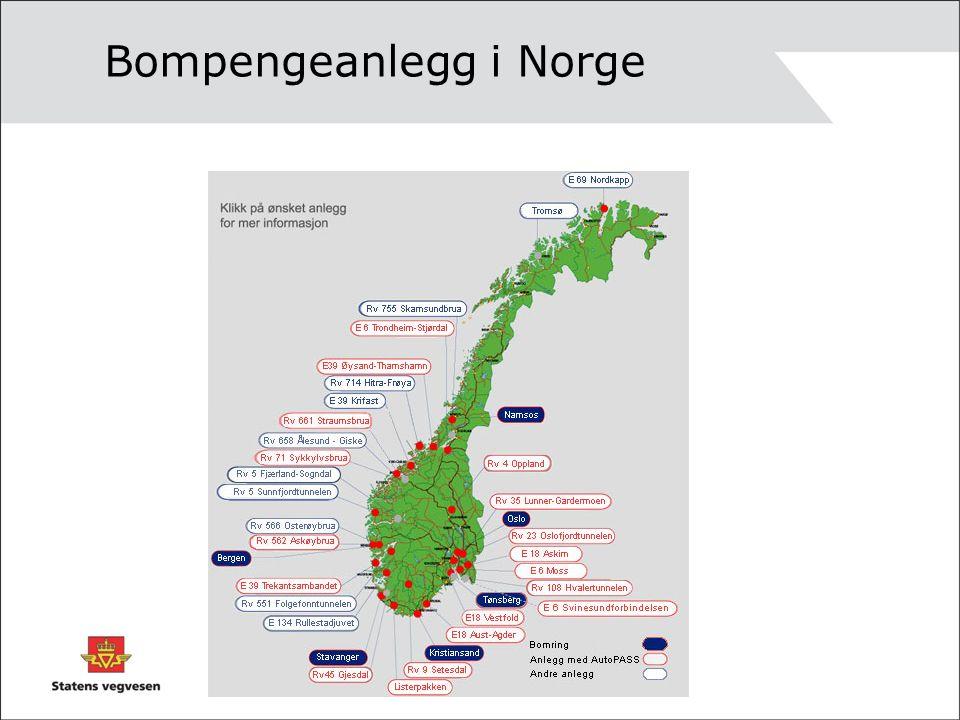 Bompengeanlegg i Norge