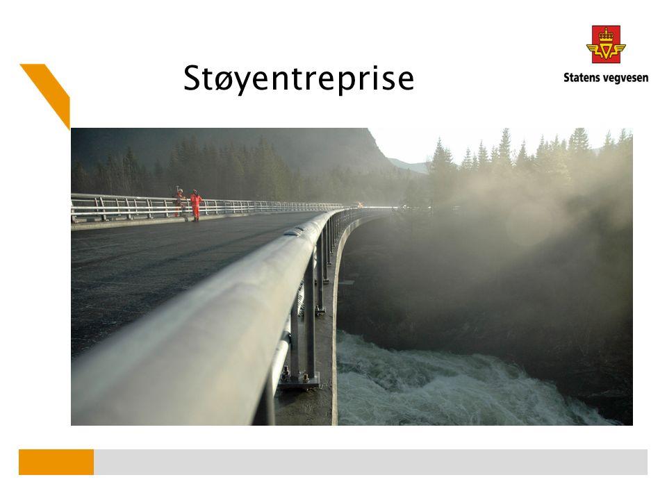 - 0,6 meter høy - 150 meter lang - festes på etablert betongkant Støyskjerm Sande Nord