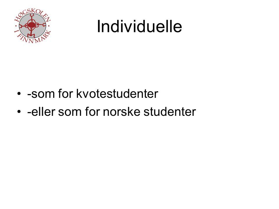 Erfaringer -de flinke klarer seg bra -de svake faller gjennom -faglige forutsetninger viktigere enn kjennskap til norsk kultur -strenge opptakskrav viktigste suksesskriterium -bare den som ønsker å bli integrert blir det -sosial integrering ingen garanti for å lykkes faglig