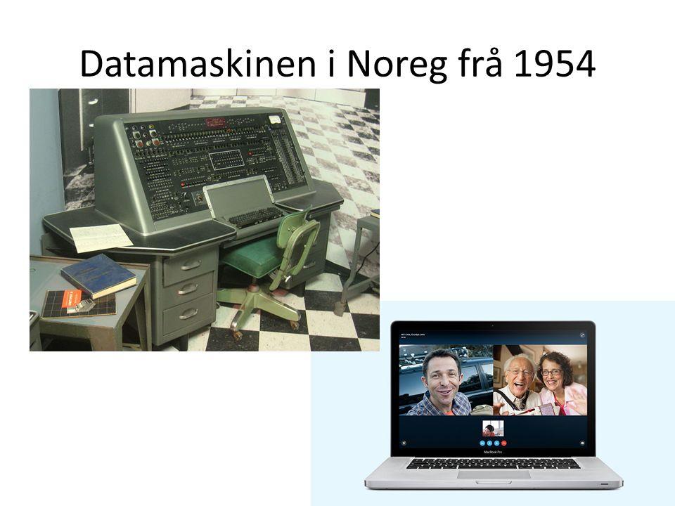 Datamaskinen i Noreg frå 1954