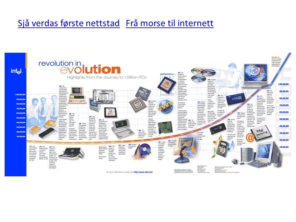 Sjå verdas første nettstadSjå verdas første nettstad Frå morse til internettFrå morse til internett