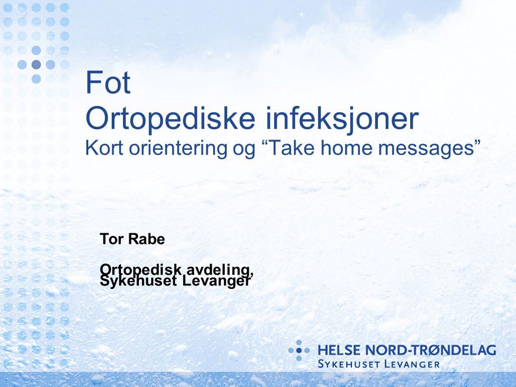 Fot Ortopediske infeksjoner Kort orientering og Take home messages Tor Rabe Ortopedisk avdeling, Sykehuset Levanger