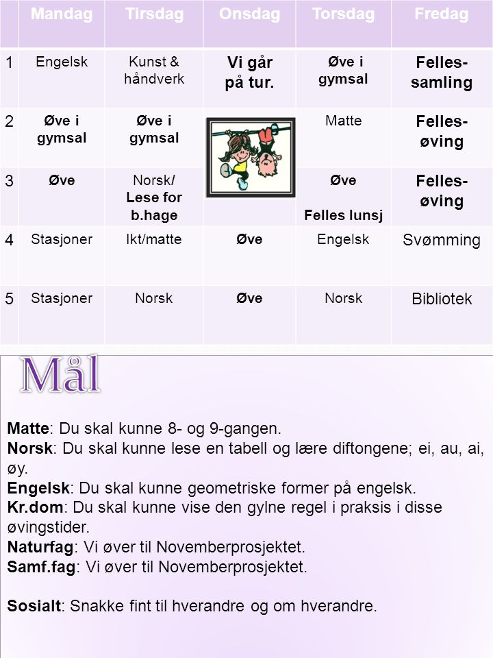 Til tirsdag Norsk: Les sangen om Rogaland.